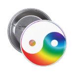 Rainbow Yin Yang Symbol Pin