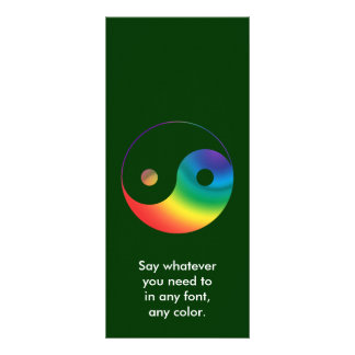 Rainbow Yin Yang Symbol Rack Card
