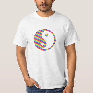 rainbow yin yang t shirt