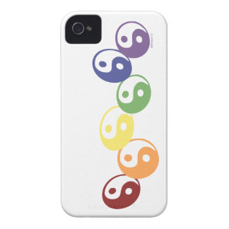 Rainbow Ying Yang iPhone 4 Cases