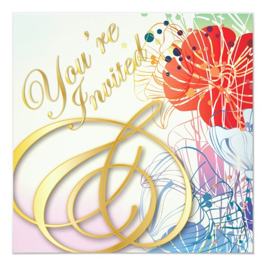 Rainbow You're Invited - Blank Invite Card - 1