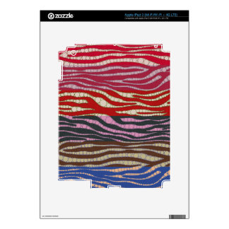 Rainbow Zebra Abstract Decal For iPad 3