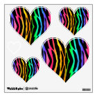 Rainbow Zebra Animal Print Stripes Teen Girl Wall Decal