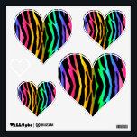 "Rainbow Zebra Animal Print Stripes Teen Girl Wall Decal<br><div class=""desc"">Rainbow Zebra Animal Print Stripes Teen Girl Heart Shaped Decals.</div>"