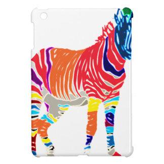 Rainbow Zebra Animals Monogrammed Pattern Party iPad Mini Case