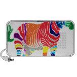 Rainbow Zebra Animals Monogrammed Pattern Party iPod Speakers