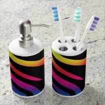 Rainbow Zebra Bath Set