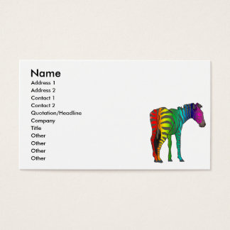 rainbow zebra business card