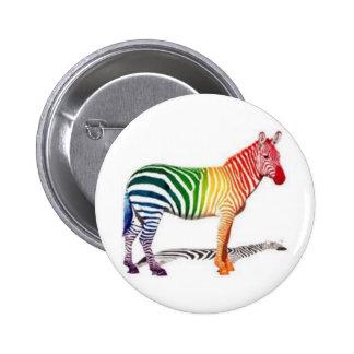 Rainbow Zebra Button