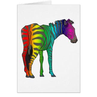 rainbow zebra card