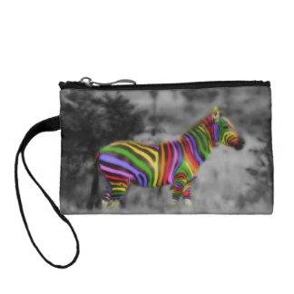 Rainbow Zebra Coin Purse