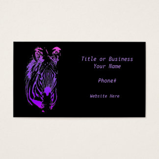 Rainbow Zebra - Customizable Business Card