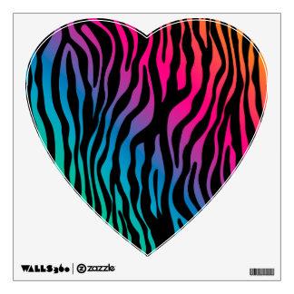 Rainbow Zebra Cute Wall Decor