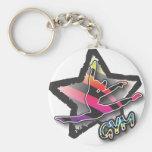 Rainbow Zebra Gymnastics Key Chains