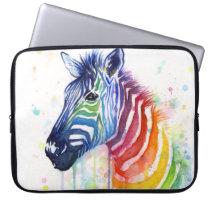 Rainbow Zebra Laptop Case