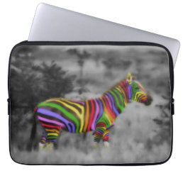 Rainbow Zebra Laptop Sleeve