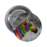 Rainbow Zebra Pinback Button