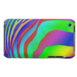 Rainbow Zebra Print Barely There iPod Cases