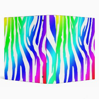 rainbow zebra print vinyl binders