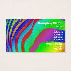 Rainbow Zebra Print Business Card at Zazzle