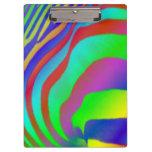 Rainbow Zebra Print Clipboard