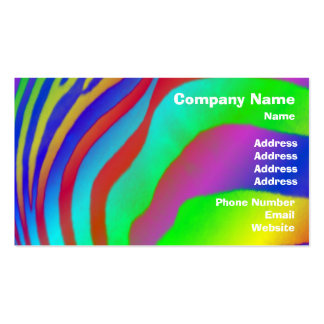 Rainbow Zebra Print Double-Sided Standard Business Cards (Pack Of 100)