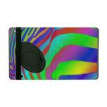 Rainbow Zebra Print iPad Folio Case