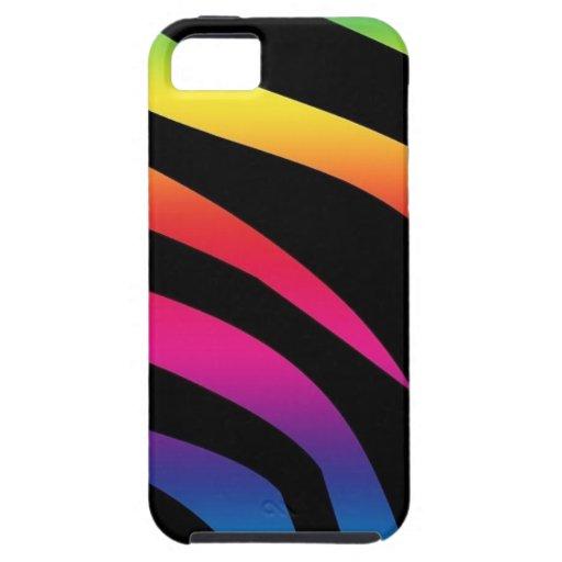 Rainbow Zebra Print iPhone 5 Case