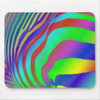 Rainbow Zebra Print Mousemat Mouse Pad