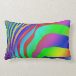 Rainbow Zebra Print Pillow