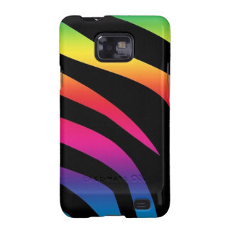 Rainbow Zebra Print Samsung Galaxy S2 Covers
