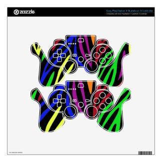 Rainbow Zebra Print PS3 Controller Decal