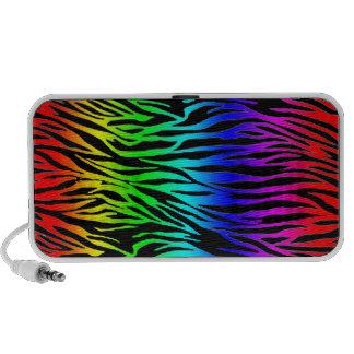 Rainbow Zebra Print Portable Speakers