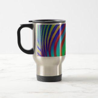 Rainbow Zebra Print Travel Mug mug
