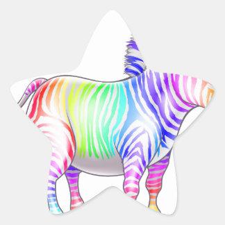 Rainbow Zebra Sticker