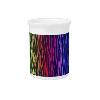 Rainbow zebra stripe pitcher