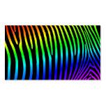 Rainbow Zebra Stripes Business Cards