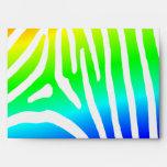Rainbow Zebra Stripes Envelope