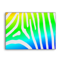 Rainbow Zebra Stripes Envelope