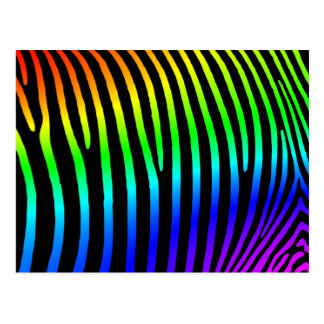 Rainbow Zebra Stripes Postcard