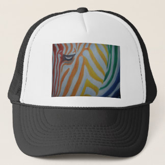 Rainbow Zebra Trucker Hat