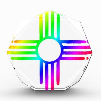 Rainbow Zia Acrylic Award