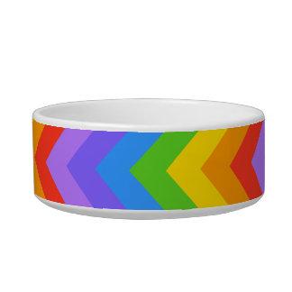 Rainbow Zig Zag Pattern. Pet Water Bowl