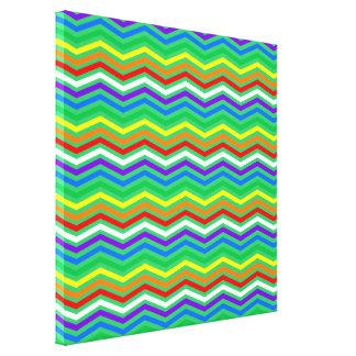 Rainbow ZigZags Canvas Print