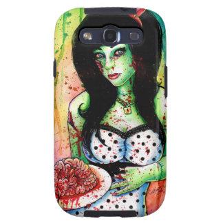 Rainbow Zombie Pin Up Girl Galaxy SIII Case