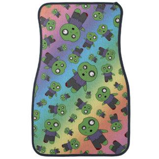 Rainbow zombies car floor mat