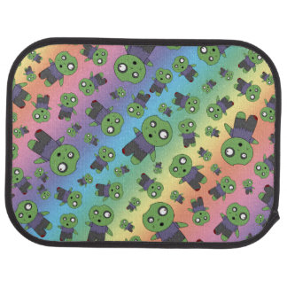 Rainbow zombies car mat