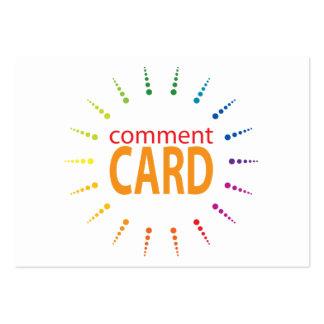 rainbowBurst de la tarjeta del comentario Tarjetas De Visita Grandes