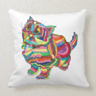 Rainbowcat cushion throw pillow