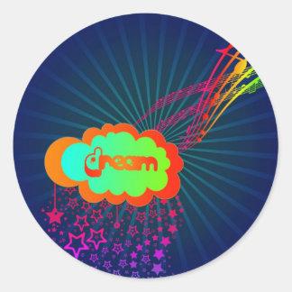 rainbowdream classic round sticker